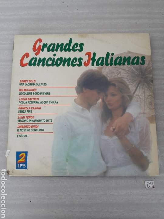 GRANDES CANCIONES ITALIANAS (Música - Discos - LP Vinilo - Canción Francesa e Italiana)
