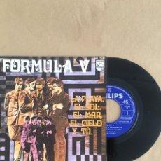 Discos de vinilo: DISCO VINILO SINGLE FORMULA V AÑO 1968. Lote 175123764