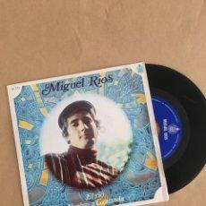 Discos de vinilo: DISCO VINILO SINGLE MIGUEL RÍOS AÑO 1968. Lote 175125043