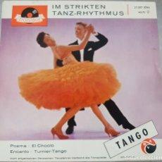 Discos de vinilo: TANGO - IM STRIKTEN TANZ - EHYTHMUS - POLYDOR EP - 4 TEMAS - RARO DISCO ALEMÁN. Lote 175126850