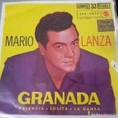 Discos de vinilo: MARIO LANZA - GRANADA - 1961 - RARO EP A 33 REVOLUCIONES - RCA. Lote 175128990
