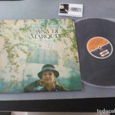 Discos de vinilo: ANA DE MARQUINA LP MOMENTOS PARA RECORDAR LA VOZ DE .. FIRMADO Y DEDICADO.. VER FOTOS. Lote 175131279