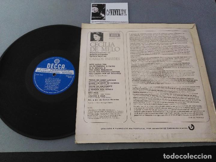 Discos de vinilo: Cecília De Melo, Carlos Paredes ?– Meu País LP Decca ?– SLPDX 523 - LP de Fado dificil de encontrar - Foto 2 - 175131655