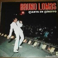 Discos de vinilo: BRUNO LOMAS CANTA EN DIRECTO FIRMADO 1967 REGAL EMI. Lote 175133537