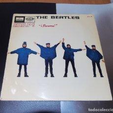 Discos de vinilo: THE BEATLES - HELP ----LABEL AZUL FUERTE --MOCL 136 --1ª EDICION ESPAÑA 1965--- MONO--. Lote 161849282