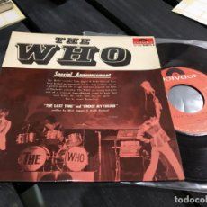 Discos de vinilo: SINGLE EXTRA RARO THE WHO THE LAST TIME / UNDER MY THUMB FRANCÉS MUY BUEN ESTADO. Lote 175141040