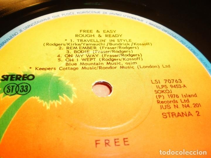 Discos de vinilo: lp free & easy, rough & ready. free. island 1976 yugoslavia nunca en TC (disco probado, seminuevo) - Foto 4 - 175142713