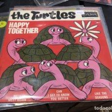 Discos de vinilo: EP THE TURTLES HAPPY TOGETHER. Lote 175143993