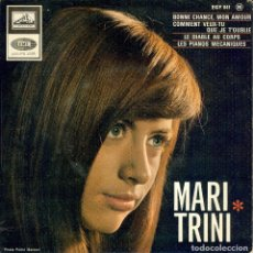 Discos de vinilo: MARI TRINI ( EP FRANCIA CANTA EN FRANCES ) BONNE CHANCE , MON AMOUR // VER DESCRIPCION . Lote 175147174