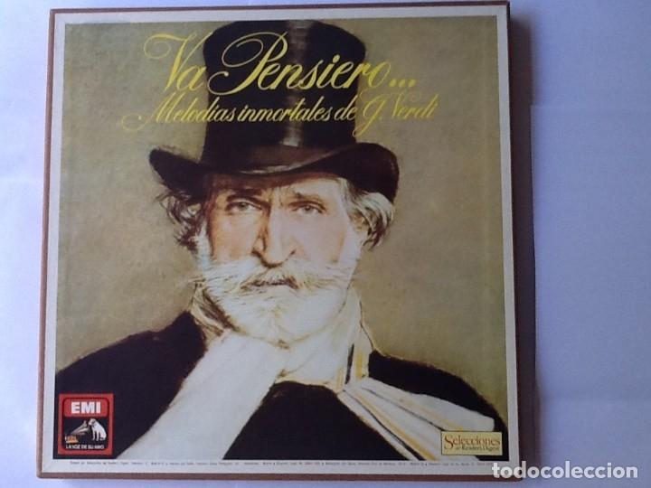 L.P. VA PENSIERO, MELODÍAS INMORTALES DE G. VERDI. 8 DISCOS 33/ 1/3 RPM. NUEVOS. (Música - Discos de Vinilo - EPs - Clásica, Ópera, Zarzuela y Marchas)