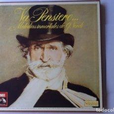 Discos de vinilo: L.P. VA PENSIERO, MELODÍAS INMORTALES DE G. VERDI. 8 DISCOS 33/ 1/3 RPM. NUEVOS. . Lote 175161508