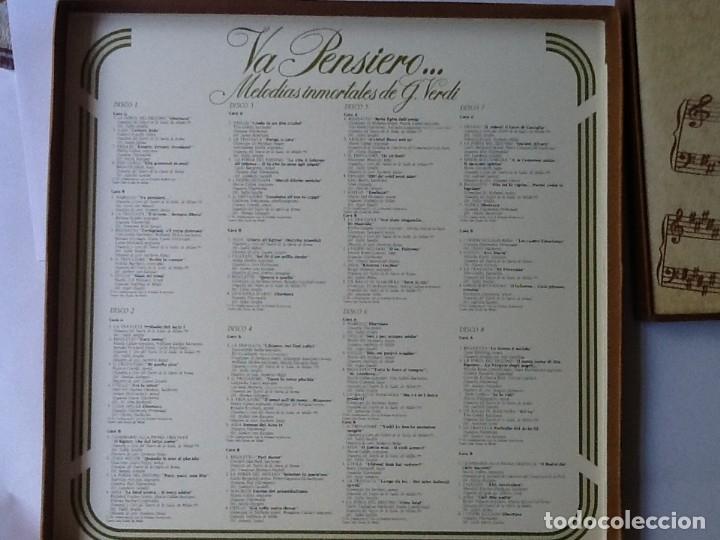 Discos de vinilo: L.P. VA PENSIERO, MELODÍAS INMORTALES DE G. VERDI. 8 DISCOS 33/ 1/3 RPM. NUEVOS. - Foto 2 - 175161508