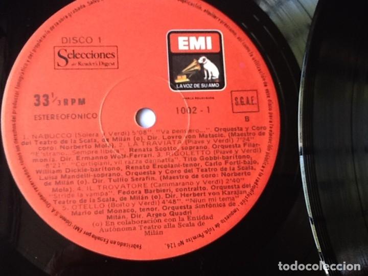 Discos de vinilo: L.P. VA PENSIERO, MELODÍAS INMORTALES DE G. VERDI. 8 DISCOS 33/ 1/3 RPM. NUEVOS. - Foto 5 - 175161508