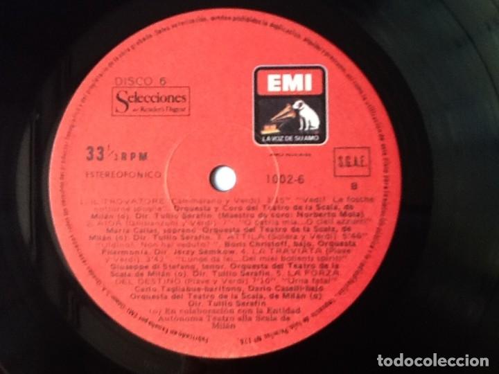 Discos de vinilo: L.P. VA PENSIERO, MELODÍAS INMORTALES DE G. VERDI. 8 DISCOS 33/ 1/3 RPM. NUEVOS. - Foto 10 - 175161508