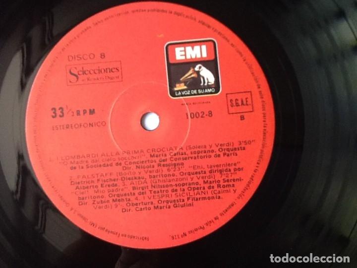 Discos de vinilo: L.P. VA PENSIERO, MELODÍAS INMORTALES DE G. VERDI. 8 DISCOS 33/ 1/3 RPM. NUEVOS. - Foto 12 - 175161508
