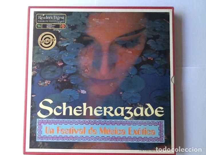 L.P. SCHEHERAZADE UN FESTIVAL DE MÚSICA EXÓTICA. 10 DISCOS 33/ 1/3 RPM. NUEVOS. VER FOTOS. (Música - Discos de Vinilo - EPs - Clásica, Ópera, Zarzuela y Marchas)