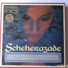 Discos de vinilo: L.P. SCHEHERAZADE UN FESTIVAL DE MÚSICA EXÓTICA. 10 DISCOS 33/ 1/3 RPM. NUEVOS. VER FOTOS.. Lote 175161585