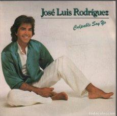 Discos de vinilo: JOSE LUIS RODRIGUEZ - CULPABLE SOY YO / SINGLE CBS DE 1983 RF-4104 , BUEN ESTADO. Lote 175180669