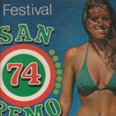 Discos de vinilo: FESTIBVAL DI SANREMO 1974 COMPILAZIONE DONATELLA RETTORE RICCARDO FOGLI MADE IN ARGENTINA . Lote 175180965