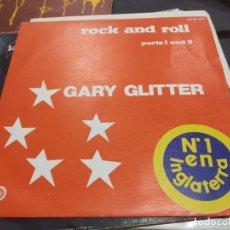 Discos de vinilo: SINGLE GARY GLITTER ROCK AND ROLL. Lote 175183413