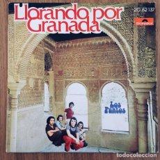 Discos de vinilo: LOS PUNTOS LLORANDO POR GRANADA SINGLE DISCO EXC. Lote 180413935