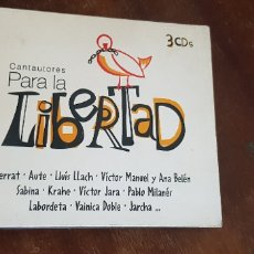 Discos de vinil: CANTAUTORES PARA LA LIBERTAD-3 CDS . Lote 175214317