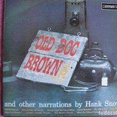 Discos de vinilo: LP - HANK SNOW - OLD DOG BROWN (ENGLAND, STETSON RECORDS SIN FECHA). Lote 175218538