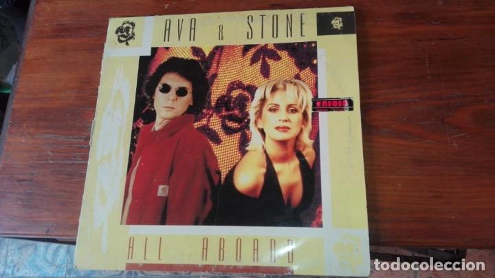 MAXI SINGLE. AVA & STONE. ALL ABOARD. 1994, ESPAÑA (Música - Discos - LP Vinilo - Disco y Dance)