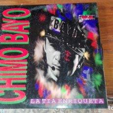 Discos de vinilo: CHIMO BAYO 'LA TÍA ENRIQUETA' VINILO LP MAXI 1994 4 TEMAS RUTA DEL BAKALAO. Lote 175223200