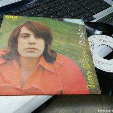Discos de vinilo: TERRY WINTER SINGLE PROMOCIONAL THANKS! ESPAÑA 1977. Lote 175223950