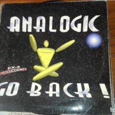 Discos de vinilo: ANALOGIC - GO BACK / BASE MAKINETA / GAMARUS / THE BASE (PUTI-CLUB-MIX). Lote 175224715