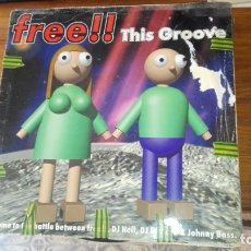Discos de vinilo: FREE!! - THIS GROOVE - 4 VERSIONES - VS. DJ RICHARD & JOHNNY BASS. Lote 175225102