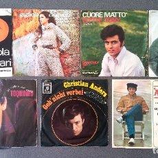 Discos de vinilo: LOTE SINGLES NICOLA DI BARI GIGLIOLA CINQUETTI LITTLE TONY MANGO TOQUINO CHRISTIAN ANDERS ADAMO. Lote 175228738