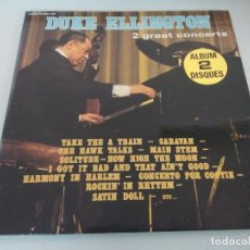 Discos de vinilo: VINILO/DUKE ELLINGTON/2 GREAT CONCERTS/DOBLE LP.. Lote 175255667