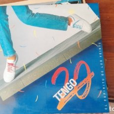 Discos de vinilo: TENGO 20 - EL ESPÍRITU DE LOS VEINTE - LP MAXISINGLE DE 1987 RF-6689. Lote 175260490