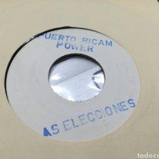 Discos de vinilo: PUERTO RICAM POWER TEST PRESING LAS ELECCIONES. Lote 175265360