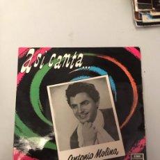 Discos de vinilo: ANTONIO MOLINA. Lote 175272095