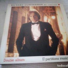 Discos de vinilo: RICHARD CLAYDERMAN – EN CONCERT ♥ COUP DE CŒUR,2 LPS. Lote 175273475