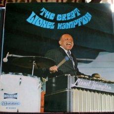 Discos de vinilo: LIONEL HAMPTON- THE GREAT LIONEL HAMPTON. Lote 175283267