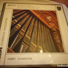Discos de vinilo: CLASSICAL FAVORITES ALBERT SCHWEITZER,BACH. Lote 175289268