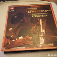 Discos de vinilo: MOZART, THE LONDON WIND QUINTET AND ENSEMBLE,OTTO KLEMPERER ‎,SÉRÉNADE POUR 13 INSTRUMENTS A VENT. Lote 175289608