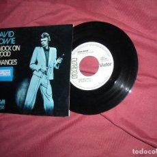 Discos de vinilo: DAVID BOWIE KNOCK ON WOOD / CHANGES SINGLE PROMOCIONAL SPAIN 1973 VER FOTO. Lote 175290039