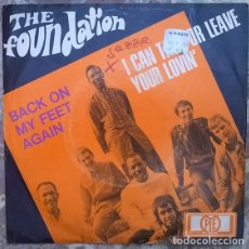 Discos de vinilo: THE FOUNDATION. BACK ON MY FEET AGAIN/ I CAN TAKE OR LEAVE YOUR LOVIN. PYE, GERMANY 1968 SINGLE. Lote 175290240