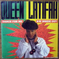 Dischi in vinile: QUEEN LATIFAH - DANCE FOR ME / INSIDE OUT - 1990 - RAP, HIP HOP. Lote 175292053