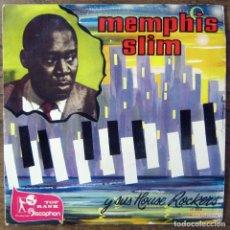 Discos de vinilo: EP - MEMPHIS SLIM Y SUS HOUSE ROCKERS - WHAT'S THE MATTER - 1960 - VINILO AZUL. Lote 175292578