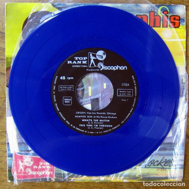 Discos de vinilo: EP - MEMPHIS SLIM Y SUS HOUSE ROCKERS - WHAT'S THE MATTER - 1960 - VINILO AZUL - Foto 3 - 175292578