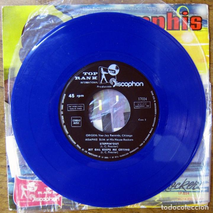 Discos de vinilo: EP - MEMPHIS SLIM Y SUS HOUSE ROCKERS - WHAT'S THE MATTER - 1960 - VINILO AZUL - Foto 4 - 175292578