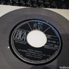Discos de vinilo: JUAN PARDO SINGLE PROMOCIONAL MIS SUEÑOS DORMIDOS 1973. Lote 175297259