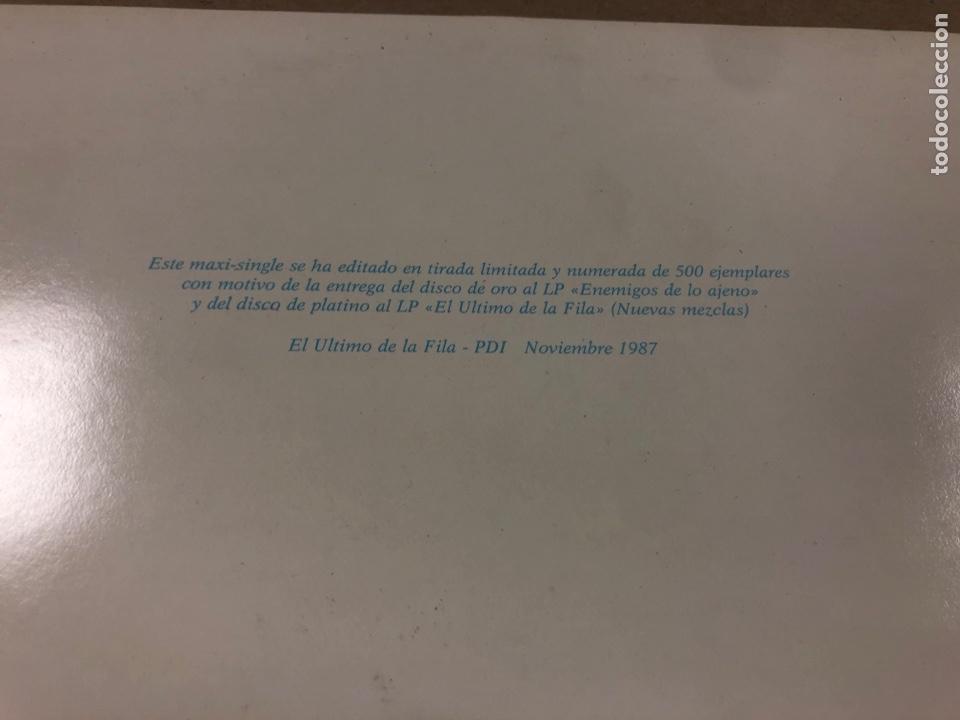 Discos de vinilo: EL ÚLTIMO DE LA FILA. MAXI SINGLE DE TIRADA LIMITADA, FIRMADO Y DEDICADO POR MANOLO GARCÍA Y QUIMI P - Foto 6 - 175302422
