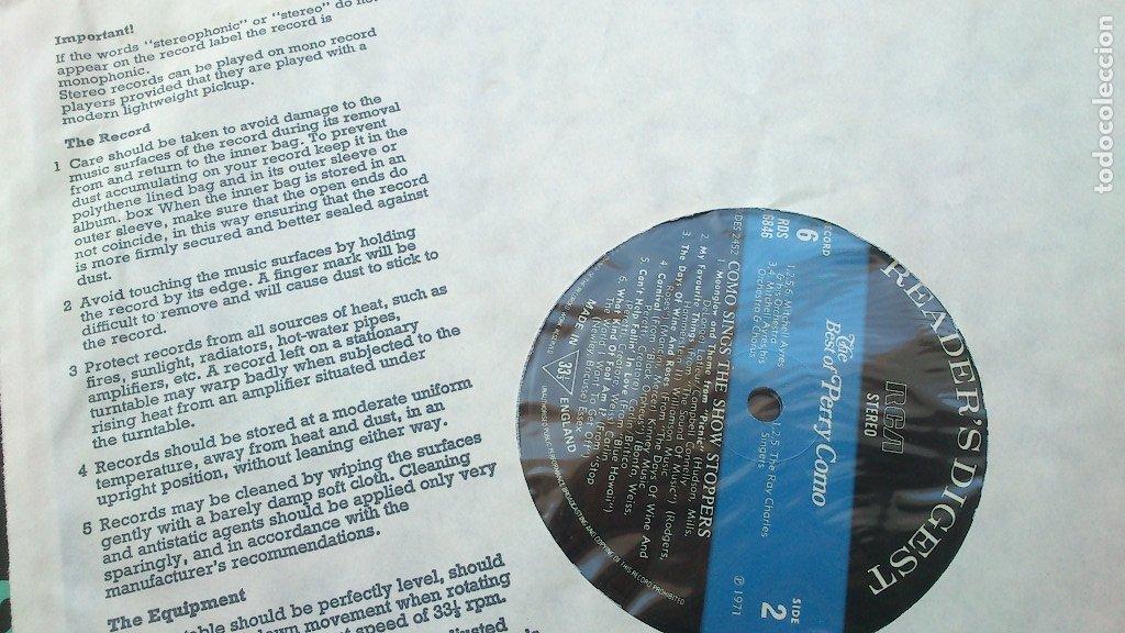 Discos de vinilo: THE BEST OF PERRY COMO - 6 LP - READER'S DIGEST - 1971 - NUEVO - CONSERVA HOJA GARANTÍA - Foto 15 - 175304870